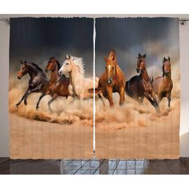 image-Horse Pinch Pleat Thermal Curtains East Urban Home Maße pro Stück: 260cm H x 140cm W