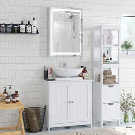 image-Holtz 50cm x 72cm Surface Mount Mirror Cabinet with LED Lighting