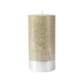image-Libra Metallic Sand Rustica Pillar Candle 10x20cm