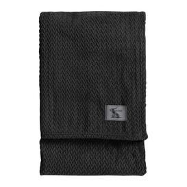 image-Cristian Chevron Flannel Fleece Throw August Grove Colour: Charcoal