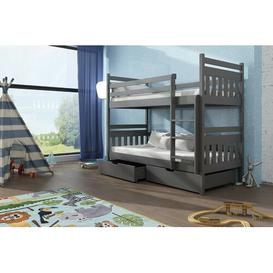 image-Massimo Single (3') Bunk Bed with Drawers Isabelle & Max Colour (Bed Frame): Graphite