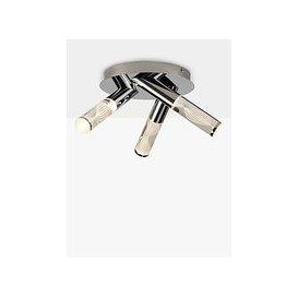 image-John Lewis & Partners Oslo LED 3 Arm Bathroom Ceiling Plate, Chrome