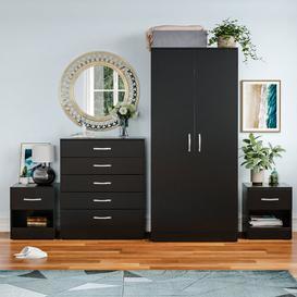 image-Audrina 4 Piece Bedroom Set Zipcode Design Colour: Black