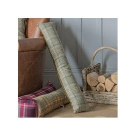 image-Bramley Check Draught Excluder Sage
