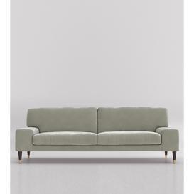 image-Swoon Merida Three-Seater Sofa in Ice Grey Easy Velvet