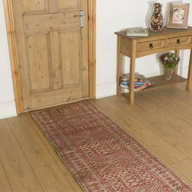 image-Bader Tufted Taupe/Red Indoor/Outdoor Rug ClassicLiving Rug Size: Runner 60cm x 510cm