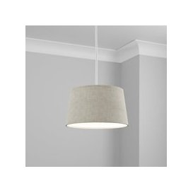 image-Made to Order 30cm French Drum Shade Linoso Dove