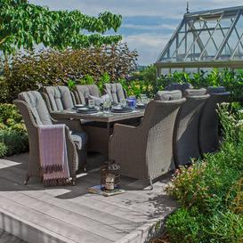 image-Radegunda 8 Seater Dining Set with Cushions Dakota Fields