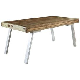 image-Indian Hub Aspen Iron and Wood Dining Table