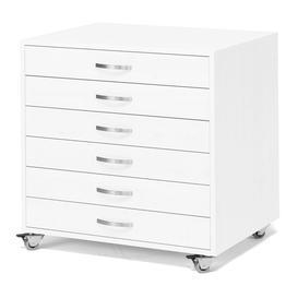 image-Art supplies storage trolley ARKEN, white