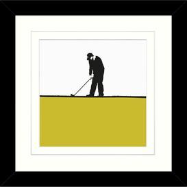 image-Jacky Al-Samarraie - Golf Framed Print, 34 x 34cm