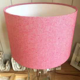 image-Cotton Drum Lamp Shade Ebern Designs Colour: Pink, Size: 18cm H x 20cm W x 20cm D