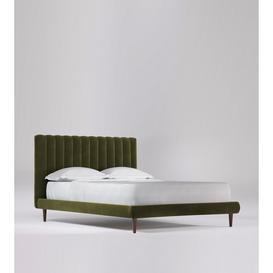image-Swoon Porlock King Bed in Fern Easy Velvet With Dark Feet