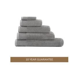 image-Dorma Tencel Sumptuously Soft Dove Grey Towel Grey