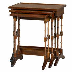 image-Chew 3 Piece Nest of Tables Astoria Grand Finish: Mellow Mahogany