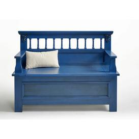 image-Wooden Storage Bench Union Rustic Colour: Blue