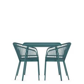 image-M&S Lois 2 Seater Balcony Table & Chairs - 1SIZE - Teal, Teal