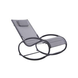 image-Allete Rocking Chair with Cushion Sol 72 Outdoor Finish: Grey
