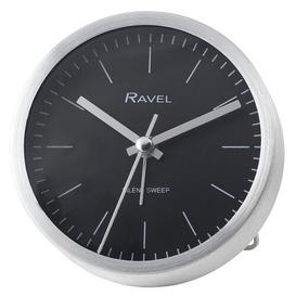 image-Loxley Alarm Clock Ravel Finish: Brushed Silver
