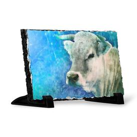 image-Cow in the Meadow with Light Painting Decorative Slate