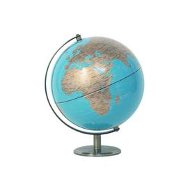 image-World Globe 25 Cm Ebern Designs Size: 30cm H x 25cm W x 25cm D, Globe Colour: Blue/Grey