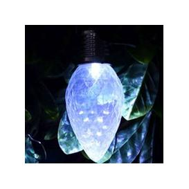 image-Bright Garden Solar Pinecone Bulb Light - Clear