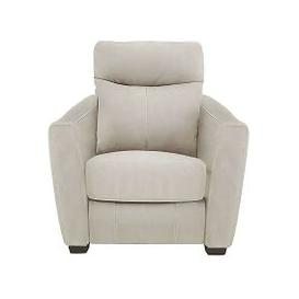 image-Compact Collection Midi Fabric Manual Recliner Armchair - Beige