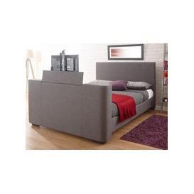 image-Milan Bed Company Newark 5FT Kingsize TV Bed,Grey