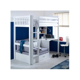 image-Ferdie Childrens Highsleeper Bed with Desk and Futon