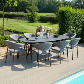 image-Bergh 8 Seater Dining Set Sol 72 Outdoor Colour (Chair Frame): Grey