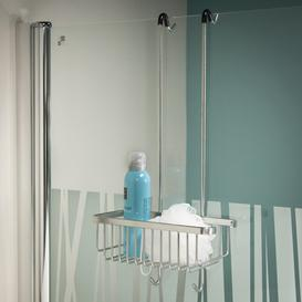 image-Exquisite Shower Caddy Tiger Finish: Stainless Steel