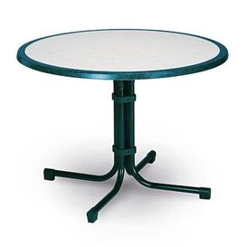image-Princetown Dining Table Sol 72 Outdoor Colour: Blue marble, Size: 100 cm diameter