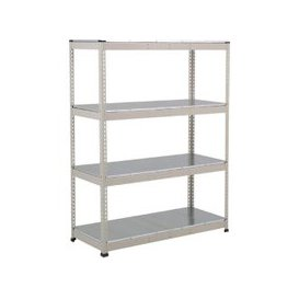 image-Rapid 1 Heavy Duty Shelving With 4 Galvanized Shelves 1525wx1980h (Grey), Grey, Free Next Day Delivery