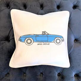 image-Classic Car Double Sided Cushion Blue/Green