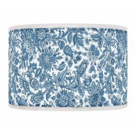 image-Polyester Drum Shade ClassicLiving Colour: Blue, Size: 26cm H x 50cm W x 50cm D, Type: Ceiling/Wall
