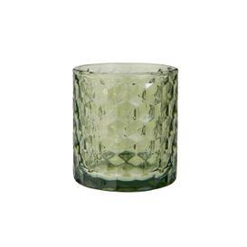 image-Glass Tealight Holder Green
