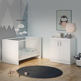 image-Manion Cot Bed 2 Piece Nursery Furniture Set Isabelle & Max