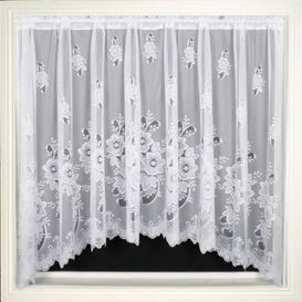 image-Grantfork Slot Top Semi Sheer Single Curtain Marlow Home Co. Size per Panel: 381 W x 107 D cm