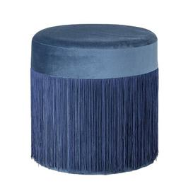image-Pleat Pouffe Bloomingville Upholstery Colour: Blue