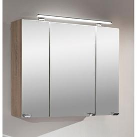 image-80cm x 68cm Surface Mount Mirror Cabinet with Lighting
