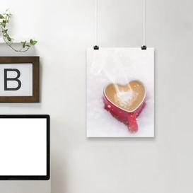 image-'Winter Christmas Love Mug' by Grab My Art - Unframed Graphic Art Print on Paper East Urban Home Size: 61 cm H x 46 cm W