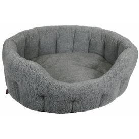 image-Fritz Fleece Bolster Cushion Archie & Oscar Size: Small (51cm W x 41cm D), Colour: Silver Grey