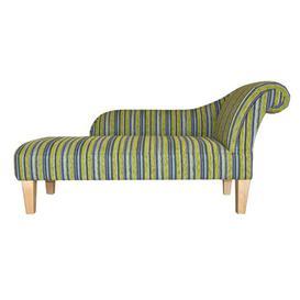 image-Fallston Chaise Longue Ophelia & Co. Colour: Angelina Gold Pattern, Leg Finish: Mahogany Dark, Orientation: Right-Hand Chaise