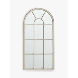image-John Lewis & Partners Arched Wood Frame Window Wall Mirror, 140 x 70cm, Taupe