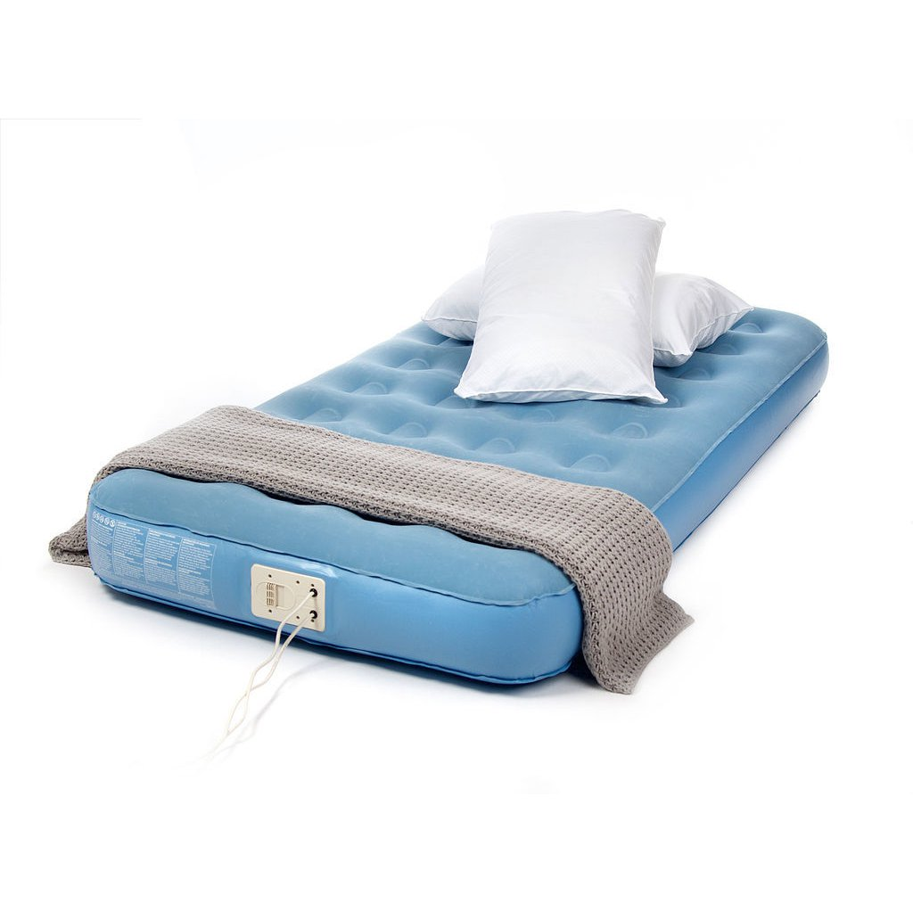 image-Aerobed Single Air Mattress with Built-in Electric Pump