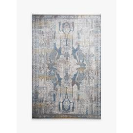 image-Gooch Luxury Distressed Ornate Rug, Blue