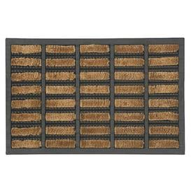 image-Coir Boot scraper Doormat Natural