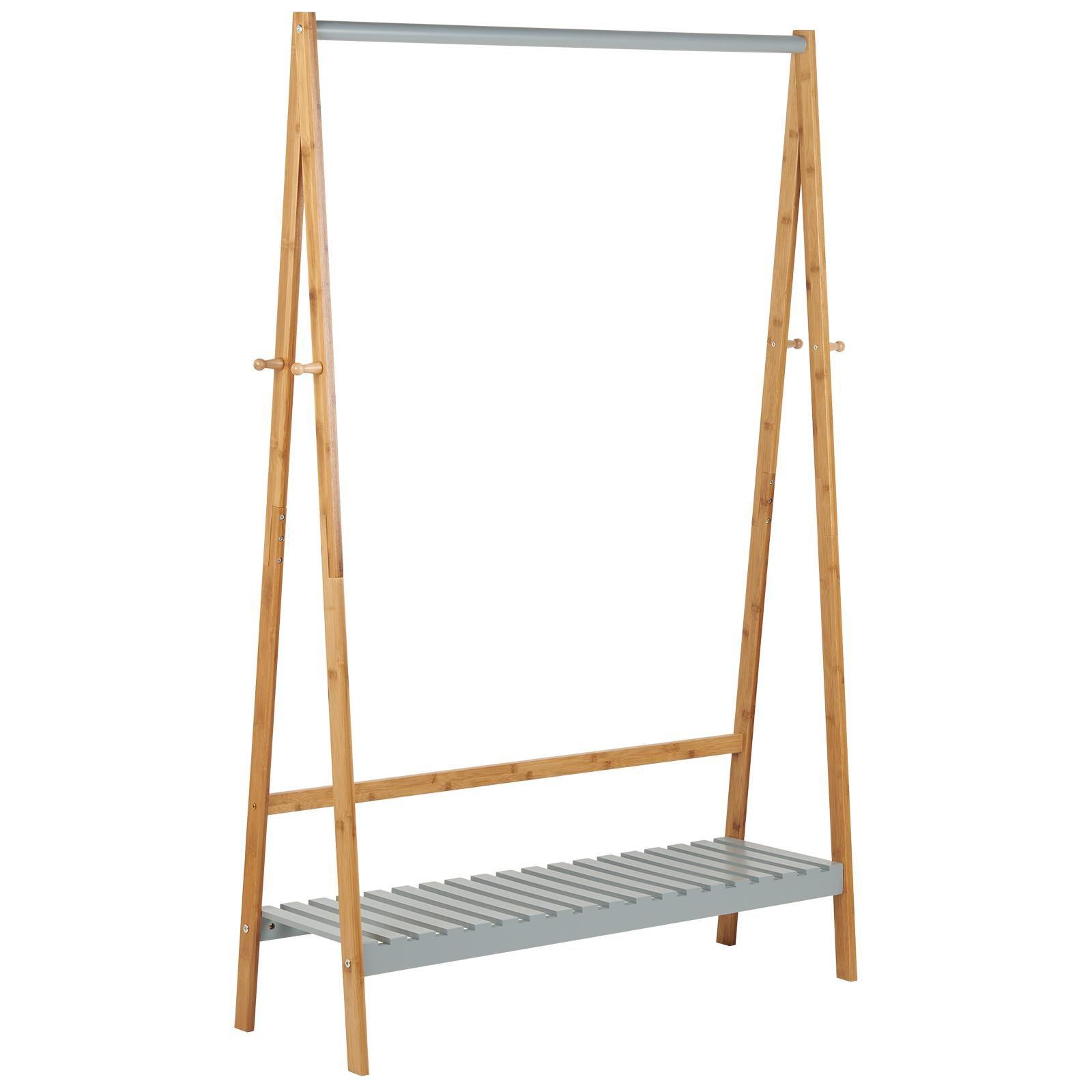 image-Hartleys Grey & Bamboo Clothes Rail