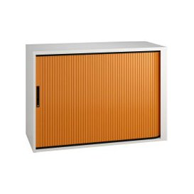 image-Solero Low Tambour Unit (Orange), Orange, Free Standard Delivery