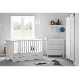 image-Belton Cot Bed 3 Piece Nursery Furniture Set Obaby Colour: White